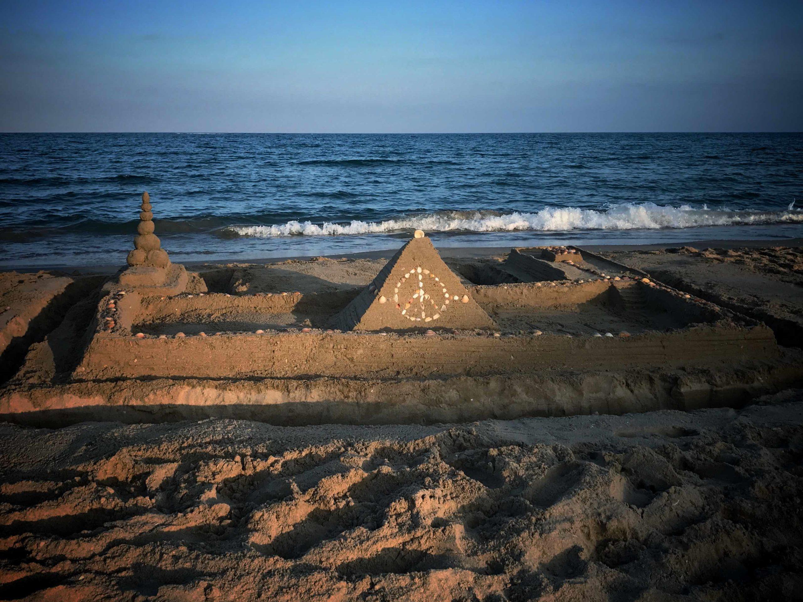 Chateau de sable à Rochelongue