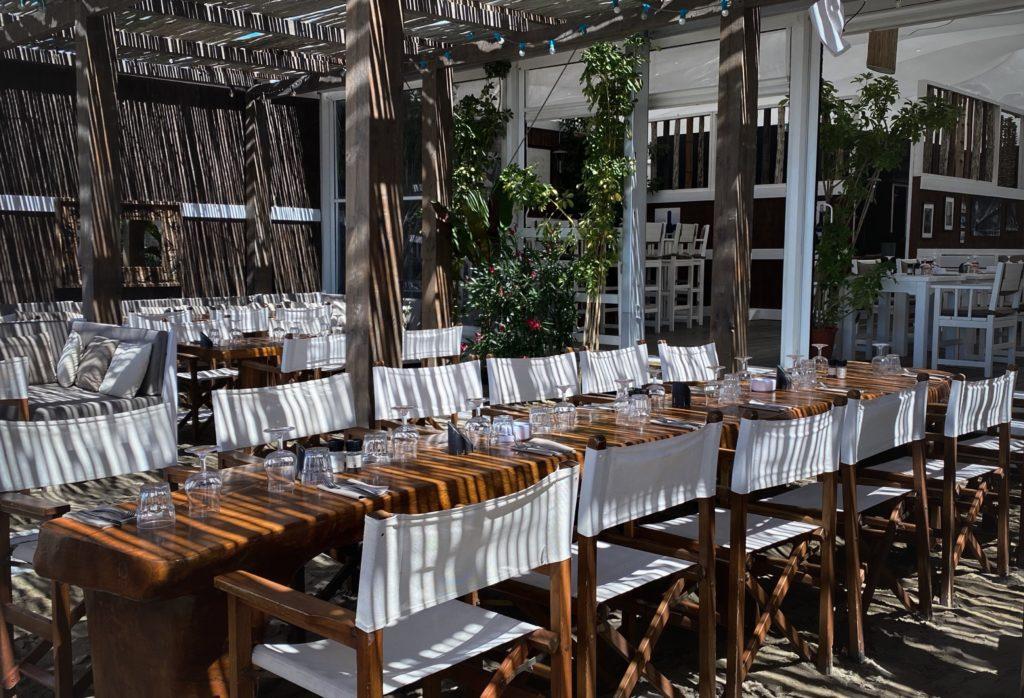 The table La Plage du Golf