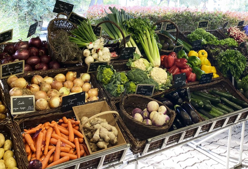 Etal de légumes