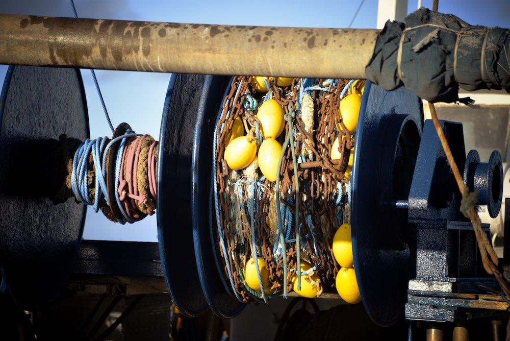 Filets de bateau de pèche à la cirée