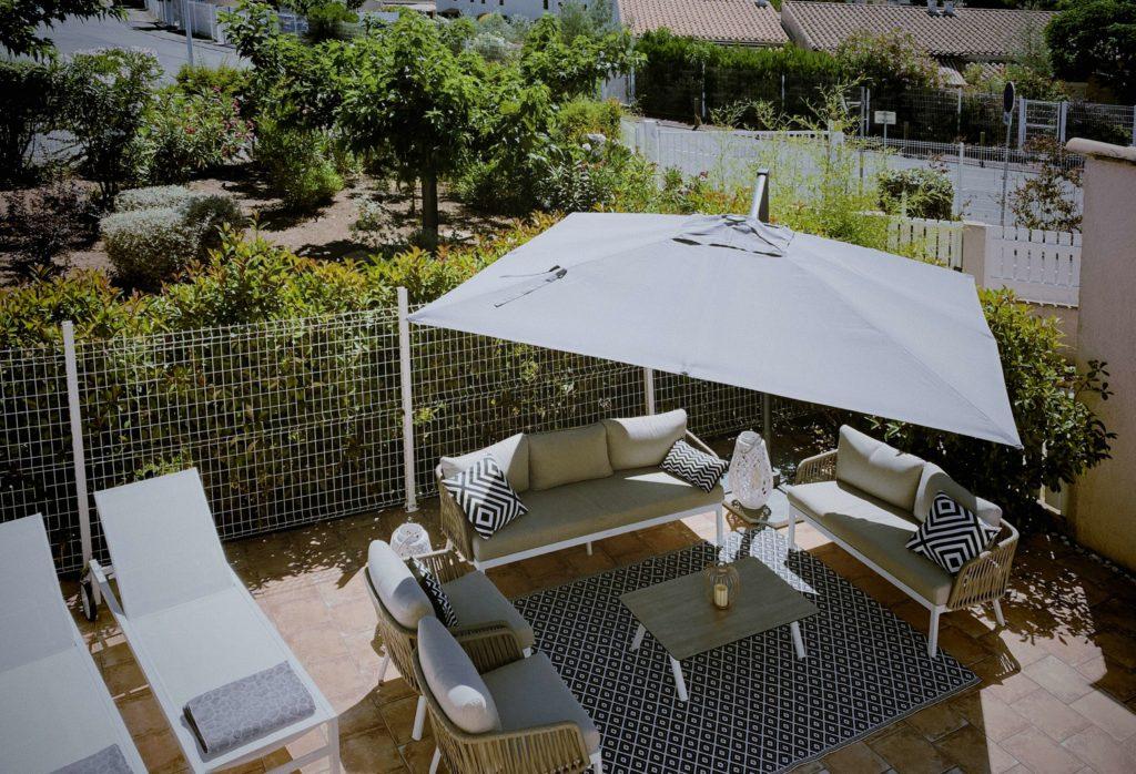 La Soulayla terrasse vue de l'étage
