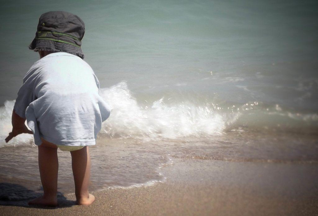 La Soulayla bébé enfant bord de mer pour site